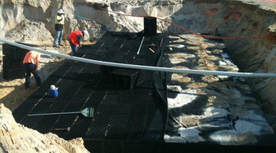 Sub surface polypropylene drainage soakwell