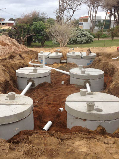 Trafficable concrete septic tank systems