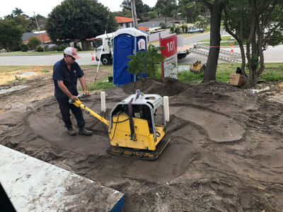 Compacting concrete soakwells perth